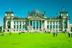 Berlin Parliament. Building with green field - Reichstag Royalty Free Stock Photo
