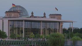 Berlin Paul-Loebe-House German Parliament almacen de video