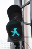 Berlin Pedestrian Green Traffic Light Arkivbilder