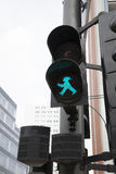 Berlin Pedestrian Green Traffic Light Royaltyfri Fotografi