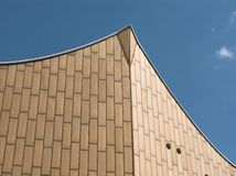 Berlin Philharmonics. Facade of the Berlin philharmonic orchestra in Germany Stock Images