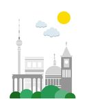 Berlin-Plakat Stockfotografie