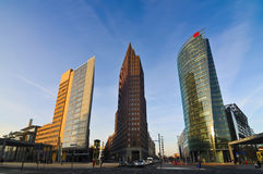 Berlin potsdamer platz. Potsdamer platz in berlin, germany, at sunrise Stock Photo