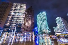 Berlin at Potsdamer Platz. Berlin, Germany cityscape at Potsdamer Platz financial district Stock Photography