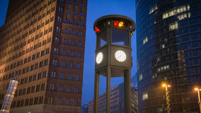 Berlin Potsdamer Platz. At night Royalty Free Stock Photo