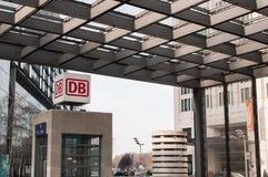 Berlin Potsdamer Platz-post in Berlijn Stock Foto's