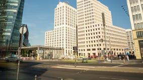 Berlin Potsdamer Platz, tidschackningsperiod stock video
