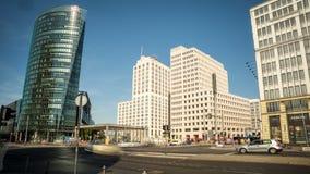 Berlin, Potsdamer Platz, Zeitspanne stock video footage