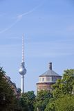 Berlin Prenzlauer Berg. Berlin-Prenzlauer Berg with water and television tower Royalty Free Stock Photography