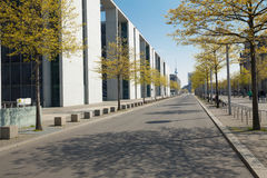 Berlin / promenade near the Reichstag building Royalty Free Stock Images