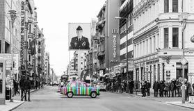 berlin punkt kontrolny Charlie Zdjęcie Royalty Free