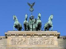 Berlin Quadriga Brandenburg Gate. Quadriga sculpture of the Brandenburger gate in Berlin, Germany Royalty Free Stock Photography