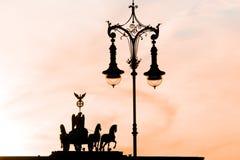 Berlin Quadriga på den Brandenburger porten Royaltyfri Foto