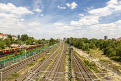 Berlin railway in summer Stock Image