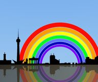 Berlin rainbow background Stock Image