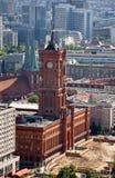 berlin rathaus rotes fotografia stock