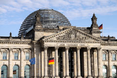 Berlin Reichstag. The Reichstag or Parliamentary Building is one of the most symbolic buildings in Berlin. Germany Stock Images