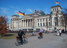 Berlin bike, Reichstag,tourista stock photography