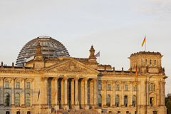 Berlin - Reichstag building Royalty Free Stock Photo