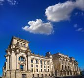 Berlin Reichstag facade Bundestag Germany Royalty Free Stock Photography