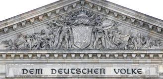 Berlin Reichstag. Forepart of German parliament in Berlin Royalty Free Stock Image