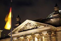 Berlin reichstag night Royalty Free Stock Photography