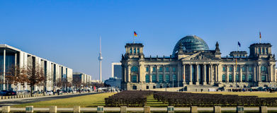 Berlin Reichstag panorama Stock Image