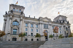 Berlin, Reichstag Parliament building, unusual view Stock Photo