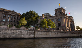 Berlin reichstag riverside view Royalty Free Stock Photo