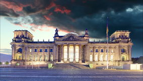 Berlin - Reichstag and sunrise, Germany stock footage