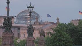 Berlin Reichstag At Sunset almacen de metraje de vídeo