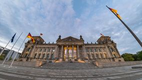 Berlin Reichstag Time Lapse archivi video