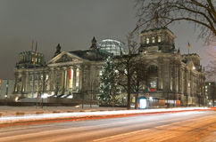 Berlin reichstag winter Stock Photography