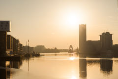 Berlin, River Spree at dawn Royalty Free Stock Image