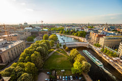 Berlin River Spree, Museumsinsel, and cruise boat Royalty Free Stock Photo