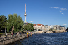 Berlin riverside view Stock Photos