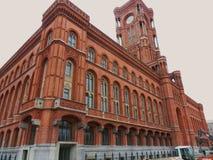 Berlin - Rotes Rathaus arkivbild