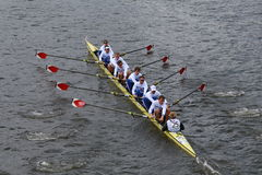 Berlin Rowing-rassen in het Hoofd van Charles Regatta stock foto
