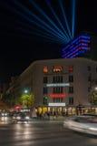 Berlin's Cinema Paris at Night. Berlin's Cinema Paris at Maison de France on Kurfurstendamm at night Stock Photography