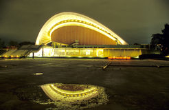 Berlin´s Haus der Kulturen der Welt at night Stock Image