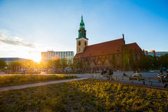 Berlin's Marienkirche (St Mary's Church) Stock Photos