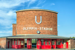Berlin's Olympia Stadium stock image