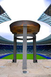 Berlin's Olympia Stadium and the Olympic Cauldron Royalty Free Stock Photos