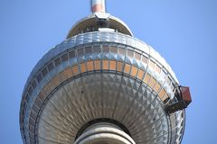Berlin's TV tower on Alexanderplatz Royalty Free Stock Image