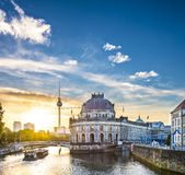 Berlin Scene. Berlin, Germany view of Museum Island and Television Tower Royalty Free Stock Photo