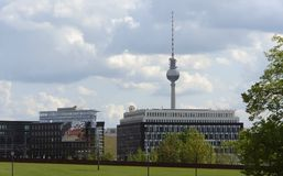 Berlin scenery with television tower Royalty Free Stock Photography