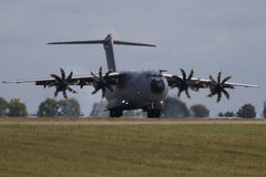 BERLIN - SEP 11: Military transporter Airbus A400M shown at ILA Stock Image