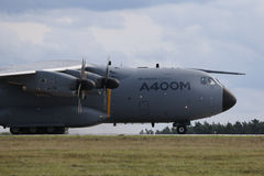 BERLIN - SEP 11: Military transporter Airbus A400M shown at ILA Royalty Free Stock Photography