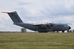 BERLIN - SEP 11: Military transporter Airbus A400M shown at ILA Royalty Free Stock Images