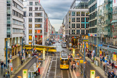 Berlin Shopping Street Royalty Free Stock Photography